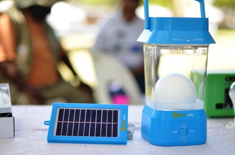 Lampe solaire que j'ai vu à l'exposition de CCDA-V