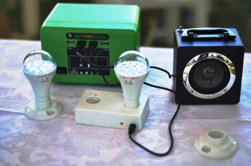 Kit solaire vu à l'exposition de CCDA-V