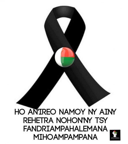 Pour ceux qui ont perdu leur vie à cause de l'insécurité - Image de Wake Up Madagascar